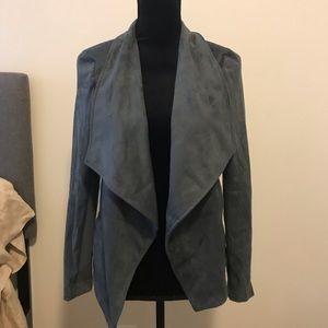 BB Dakota Wade Faux Suede Jacket Grey S Small